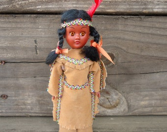 Celluloid Native American Indian Doll