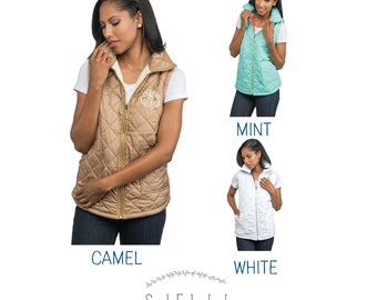 PRE-SALE Quilted Vest   Mint, Camel or White