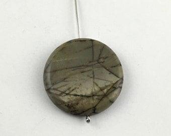 1 red creek jasper stone beads /30mm #PP 130-2