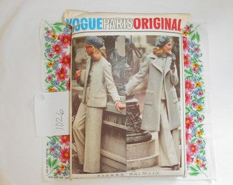 Vogue Paris Original Sewing Pattern #1026 Pierre Balmain