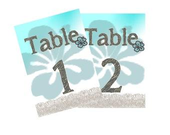 Beach Table Card Design