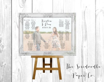 Photo Wedding Seating Chart Sign > Custom Photo design > Digital File, Poster Print, or Foam Board Print >> FREE Shipping
