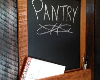 Distressed to Impress! Rustic Reclaimed Chalkboard With Mail Grocery notepad Organizer Entryway