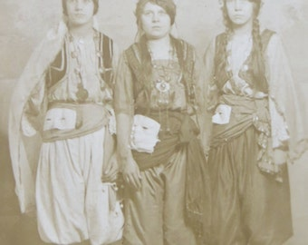 Original 1910's Vermont Turkish Dames Women's Club Real Photo Postcard RPPC - Free Shipping