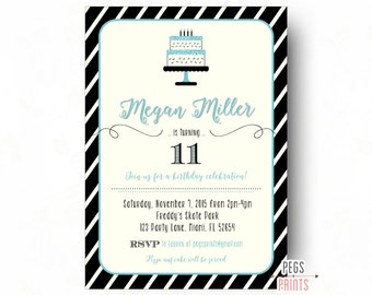 Tween Birthday Invitations // Teen Birthday Invitation // Birthday Invitations for Girls // Birthday Party Invitations // Girl Birthday