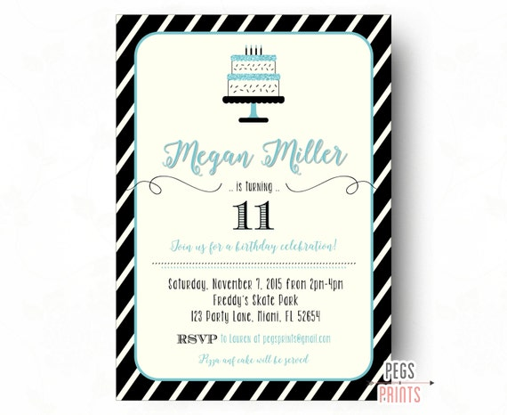 Tween Birthday Invitations Teen Birthday Invitation Birthday – Teenage Girl Party Invitations