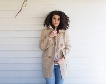 Winter Wool Toggle Coat
