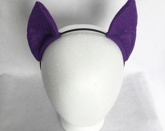 Purple Pony Costume Ears, Cosplay Ears Headband, purple my little pony ears, purple pony ears