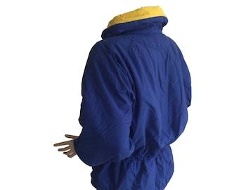Cornblue Waisted 90s Puffy Vintage Ski Jacket Size M E D I U M