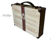 Luxury Briefcase Hardsided Luggage Vintage style Business Suitcase unique furniture storage home decor Mosshart 11