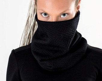Black cowl scarf small circle scarf  loop scarf chunky scarf cowl neck short infinity scarf neck warmer- SC- Q5 black