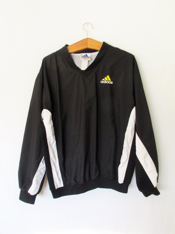 vintage 1990s adidas trefoil pullover jacket sz xxl. Black Bedroom Furniture Sets. Home Design Ideas