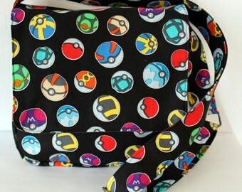 Pokemon Inspired Small Messenger Bag Poke Balls