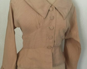vintage 40s suit jacket peplam