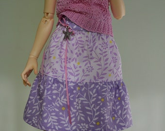 Lilac (ver.1) cotton skirt for Minfiee, Narae, Slim MSD