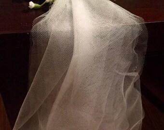 Bachelorette Bridal Baby's breathe flower barrette with veil