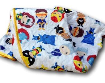X Men Baby Quilt * X Men Nursery X Men Baby Blanket * Personalized Baby * Superhero Quilt * Superhero Nursery * X-Men Baby * Superhero Crib