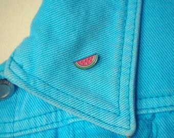 Watermelon pin cute brooch lapel enamel