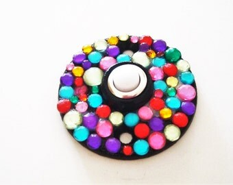 Doorbell Cover Multi-Colored Jewels