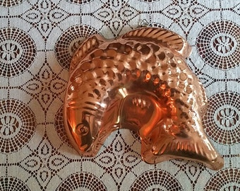 Large Copper Fish Mold 9 Inch Mold