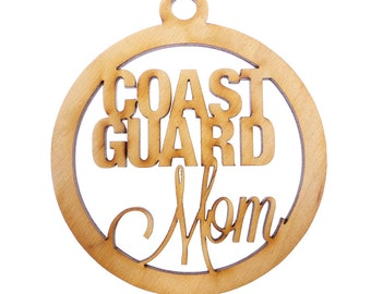Coast Guard Mom Ornament - Coast Guard Ornaments - Coast Guard Mom Gift - Coast Guard Gifts - Coast Guard Decor - Military Gifts