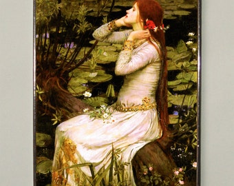 John William Waterhouse - Ophelia (1894), Stained glass, Vacation until 18. September