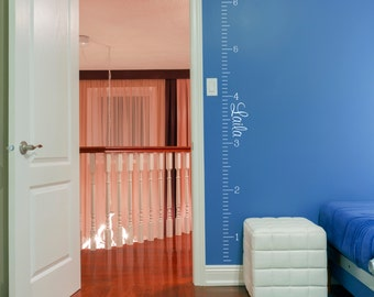 Growth Chart Decal Etsy - Ruler growth chart vinyl decal