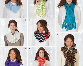Simplicity 1235/S0470  Assorted Winter Scarves. Pattern is new and uncut.