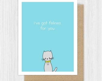 Cute Cat Card Etsy