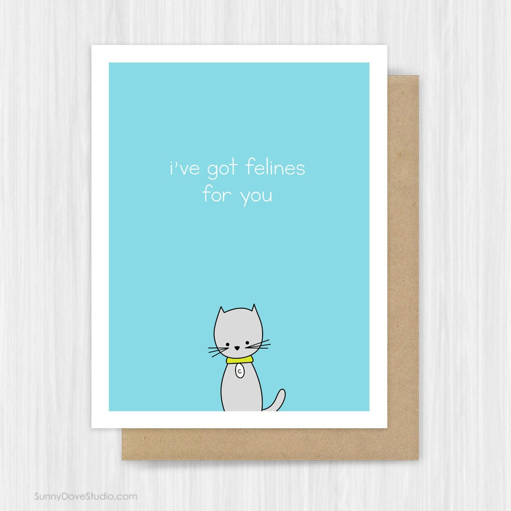 Happy anniversary card cat for girlfriend