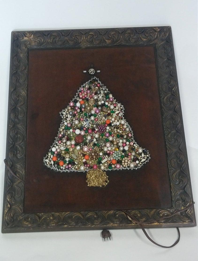 Vintage christmas jewel tree home living decor wall