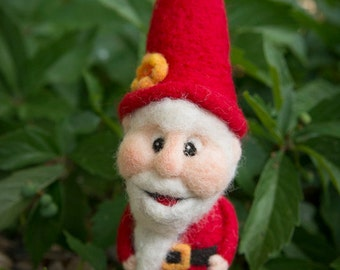 """Needle Felted Gnome """"Norman the Gnome"""""""
