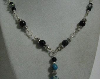 Imperial Jasper Amulet with Black Jasper Necklace