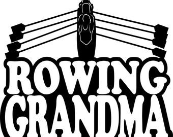 Rowing Grandma Short Sleeve Gildan T Shirt Many Colors