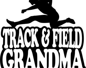 Track and Field Grandma Shirt/ Track Shirt/ Boy Hurdler Track and Field Grandma T Shirt/ Track Gifts