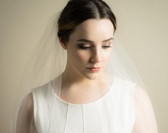Single Layer Illusion Tulle Wedding Veil (Bridal Veil, Cathedral Veil, Elbow Length, Finger Tip Length, Chapel Length Veil)
