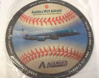 America West Airlines Diamondbacks Mouse Pad, Diamondbacks Baseball Mouse Pad, America West Memorabilia, America West Vintage Merchandise