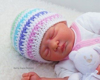 CROCHET HAT PATTERN - Ice Cream Baby hat Pattern - Baby Hat Crochet Pattern - 5 sizes! Newborn - 12 months!! Crochet Baby Hat Patterns  Pdf