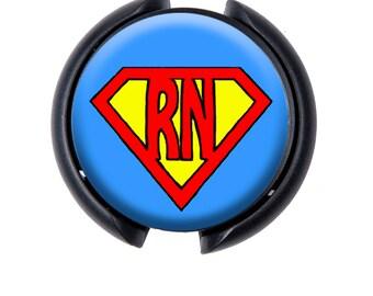 Stethoscope ID tag, Name Tag, ID Tag - Super RN (Blue)