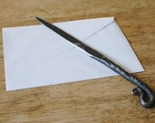 Hand Forged Letter Opener, Mother's Day Gift, Gifts for Men, Graduation Gift, Unique Desk Accessory