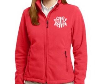 Adult Fleece Monogram Jacket