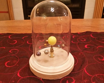 Mini Solar System - Mechanical Orrery (with Glass Dome)