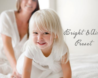 BRIGHT AND AIRY - Lightroom Preset for Photographers. Instant Download Preset. Adobe Lightroom Preset. Bonus Item Included!