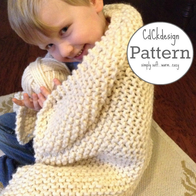Chunky Wool Throw Knitting Pattern : Knitting Pattern Chunky Knit Wool Throw Toddler Throw