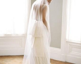 Floor length Wedding Bridal Veil 72 long inches white, ivory, Wedding veil Long bridal Veil floor length veil bridal veil cut edge veil