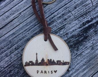 Paris Skyline Keychain