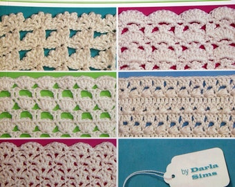 280 Crochet Shell Patterns By Darla Sims Paperback Crochet Pattern Book 2006