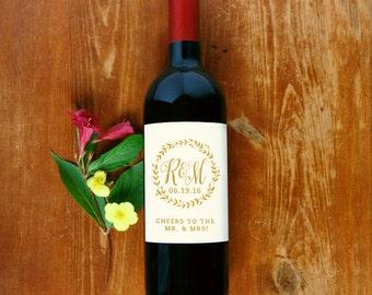 Wine Bottle Label #4 - Ivory - Custom - Personalized - Wedding Wine Bottle Sticker