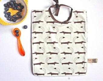 Fox Baby Bib 0-2 Years Cotton / Fleece Minimalist Design / Gender Neutral Gift