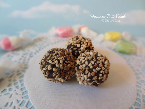 FAUX Fake Chocolate Truffle set REALISTIC Kitchen Decor Display